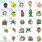 New Pair Rubber Silicon Keyring Key Chain Creative Gift Car Ring