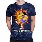 Otto Mann The Simpsons Acid Wash Party Metal Hearty Men's Graphic T-Shirt