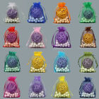 50pcs Organza Wedding Xmas Party Favor Gift Candy Bags Jewellery Pouches