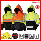 Hi-Vis Insulated Safety Bomber Reflective Class 3 Winter Jacket Warm Lined Coat