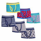Boys Boxers Trunk Fit Underwear Three Pack Four Styles 2-3 up to 13 Years