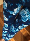 SOFT Blue Roses Brushed Paisley Floral Leggings S M L ONE size PLUS 1X 2X GREAT