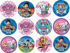 12 x 5cm POPULAR CHILDREN'S CHARACTER EDIBLE PRECUT ICING CUPCAKE TOPPERS