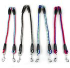 Multi Coloured Braided Dog Coupler Leash
