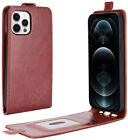 For Apple iPhone 12 & Mini Faux Leather Vertical Flip Magnetic Case Style Cover
