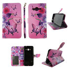 Wallet Case for Samsung Galaxy J3 Phone -PU Leather-Card Slots- Flip Cover Stand