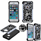 Crystal Diamond Bling Luxury 3D Case for iPhone SE Shockproof Soft TPU+PC Cover