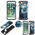 Crystal Diamond Bling Luxury 3D Case for iPhone 7 Shockproof Soft TPU+PC Cover