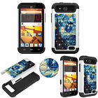 Diamond Bling Jewel 3D Case for ZTE Overture 2 & Maven Shockproof TPU+PC Cover