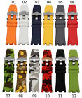 28MM RUBBER BAND STRAP FIT AUDEMARS PIGUET ROYAL OAK OFFSHORE Multi Color