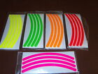 """Dayglo Wheel trim/rim decal kit-18""""-28"""" bike moped scooter 125cc electric tyre"""