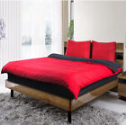 Duvet covers bedding set Reversible quilt Cover Fitted Sheet Pillow Case Red