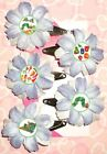 5x The VERY HUNGRY CATERPILLAR Flower Hair Clips or Bobby Pins Bows Butterfly