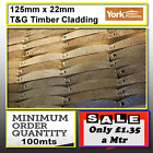 125mmx22mm Log Lap Barrel Board timber cladding Tanalised 100mtrs min order