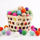 10 POM POMS 15mm Balls Bobbles Craft Decoration Trimming Kids Jewellery Making