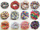1M 15mm Ball or Tassel Rainbow Pom Pom Bobble Trim Braid Fringe Ribbon Craft