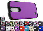 for LG Aristo LV3 K8 2017 Dual Layer Rugged Hybrid Case Phone Cover + Prytool