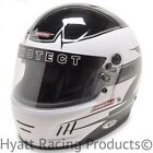 Pyrotect Pro Airflow Auto Racing Helmet SA2015 - White Rebel Graphic