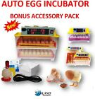 Egg Incubator Fully Automatic Digital LED Turning Chicken Duck Eggs Poultry new