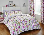 Catherine Lansfield Pink/Lilac/Multi Floral Meadow Duvet Set S/D/K