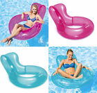 Intex Inflatable Transparent Chair Float Swimming Lounger Lilo Beach Pool Toy