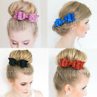 Women Girls Glitter LARGE SEQUINED BOW Hair Clip Party Ball Hair Accessories