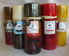GOOSE CREEK 3 X 8  FRAGRANT  PILLAR CANDLES!  BEAUTIFUL COLORS!    YOU CHOOSE!