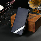 New 3Colors Men Long Walle Zip Around Purse Leather Hangbag Credit Card Holder