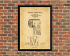 TOILET PAPER ROLL 1891 A4 Art Print/ Black & White/ or Vintage. Bathroom gift