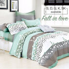 100% Cotton Single/Double/Queen/King/Super K Quilt/Duvet Cover Set-Fall in Love