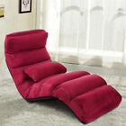 Home Lazy Sofa Chair Sofa Couch Beds Lounge Chair W/Pillow Folding Furniture US