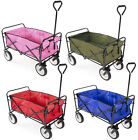 Collapsible Folding Wagon Cart Garden Buggy Shopping Gift Toy Sports Red/Blue