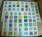 More Initial Letter Stickers - Letters A, B, C, E, M