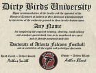 ATLANTA FALCONS  NFL FAN  ~ CERTIFICATE ~ DIPLOMA ~MAN CAVE ~ OFFICE~ GREAT GIFT