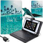 """PU Leather Flip Stand Cover Case + Keyboard With Micro USB For 10.1"""" Tablets PC"""