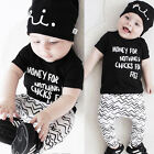 2Pcs Infant Newborn Baby Boy Girls Summer T-shirt Tops+Pants Clothes Outfit Sets