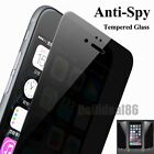 Anti-Spy 3D Curved Full Cover Tempered Glass Film Screen for iPhone 6S/7/Plus/5S