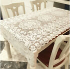 Retro Floral Lace Reusable Tablecloths Home Decor Table Cover Rectangle