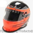 Pyrotect Pro Airflow Duckbill Auto Racing Helmet SA2015 - Orange Rebel Graphic