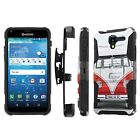 Kyocera [Hydro View / Reach] Armor Case [KickStand/Holster/Screen Guard] - L