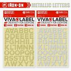 Metallic Iron On Letter Heat Transfer Alphabet Label Name Appliqué -12mm Inkviva