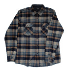 Brixton Flynn L/S Flannel Shirt - Navy/Khaki Clothing