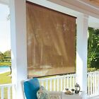 Tropical Look Style Roll Up Shades Patio Porch Sun Room Indoor 3 Sizes 2 Colors