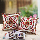 Square Cotton Linen Embroidered Throw Pillow Case Cushion Cover Home Sofa Decor