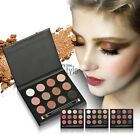 New Makeup 12 Colors Shimmer Matte Eye Shadow Palette with Double-ended TXST