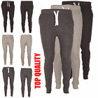 Mens Slim Fit Tracksuit Bottom Pique Skinny Jogging Joggers Sweat Trousers New