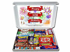 Happy 50th Birthday Personalised Chocolate or Retro Sweets Selection Gift Hamper