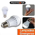 LAMPADINA LED EMERGENZA RICARICABILE E27 ANTI BLACKOUT LUCE BIANCA INTELLIGENTE