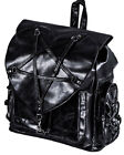 Banned Apparel Gothic Goth Occult Black Faux Leather Jamie Pentagram Backpack