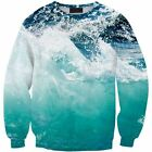 New Mens/Womens Blue sea water 3D Print Casual Sweatshirt hoodies pullpver CM509
